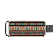 Southwest Design Turquoise and Terracotta Portable USB Flash (One Side)