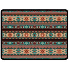 Southwest Design Turquoise and Terracotta Double Sided Fleece Blanket (Large)
