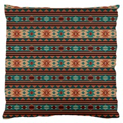 Southwest Design Turquoise and Terracotta Large Flano Cushion Cases (One Side)
