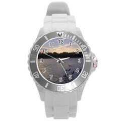 Intercoastal Seagulls 3 Round Plastic Sport Watch (L)