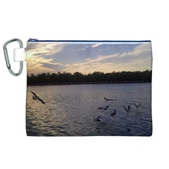 Intercoastal Seagulls 3 Canvas Cosmetic Bag (XL)