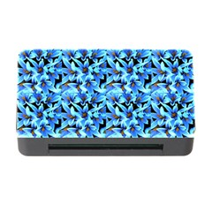 Turquoise Blue Abstract Flower Pattern Memory Card Reader with CF