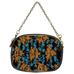 Blue Brown Texture 	chain Purse (two Sides)