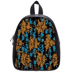 Blue brown texture			School Bag (Small)