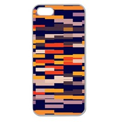 Rectangles in retro colorsApple Seamless iPhone 5 Case (Clear)