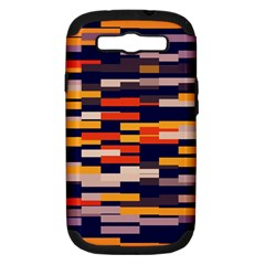 Rectangles in retro colors			Samsung Galaxy S III Hardshell Case (PC+Silicone)