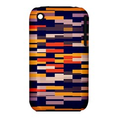 Rectangles in retro colorsApple iPhone 3G/3GS Hardshell Case (PC+Silicone)