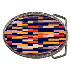 Rectangles in retro colors			Belt Buckle