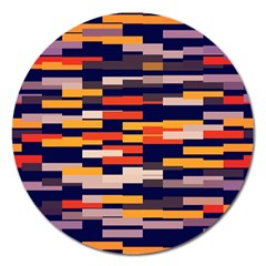 Rectangles in retro colors			Magnet 5  (Round)