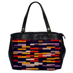 Rectangles in retro colors			Oversize Office Handbag