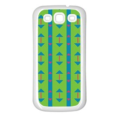 Arrows and stripes pattern			Samsung Galaxy S3 Back Case (White)