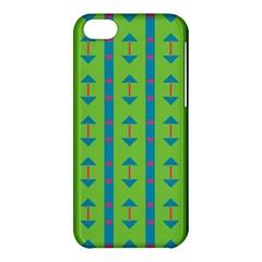 Arrows and stripes patternApple iPhone 5C Hardshell Case