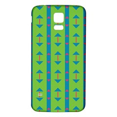 Arrows and stripes pattern			Samsung Galaxy S5 Back Case (White)