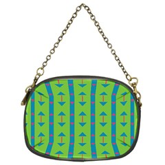 Arrows and stripes pattern 	Chain Purse (Two Sides)