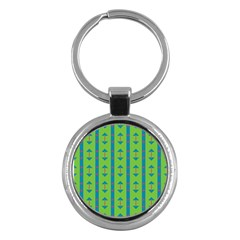 Arrows and stripes pattern			Key Chain (Round)