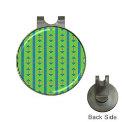 Arrows and stripes patternGolf Ball Marker Hat Clip