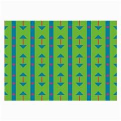 Arrows and stripes patternLarge Glasses Cloth