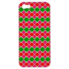 Red pink green rhombus pattern			Apple iPhone 5 Hardshell Case