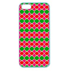 Red Pink Green Rhombus Patternapple Seamless Iphone 5 Case (color)