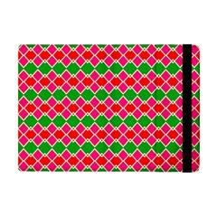 Red pink green rhombus patternApple iPad Mini Flip Case