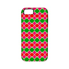 Red pink green rhombus patternApple iPhone 5 Classic Hardshell Case (PC+Silicone)