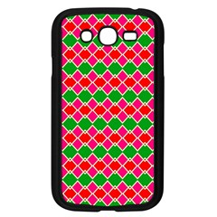Red pink green rhombus patternSamsung Galaxy Grand DUOS I9082 Case (Black)