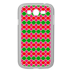 Red Pink Green Rhombus Patternsamsung Galaxy Grand Duos I9082 Case (white)