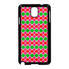 Red pink green rhombus pattern			Samsung Galaxy Note 3 Neo Hardshell Case (Black)