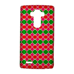 Red Pink Green Rhombus Pattern			lg G4 Hardshell Case