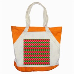 Red pink green rhombus patternAccent Tote Bag