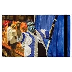 Painted Face Man At Inagural Parade Of Carnival In Montevideo Apple iPad 2 Flip Case