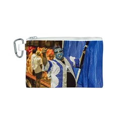 Painted Face Man At Inagural Parade Of Carnival In Montevideo Canvas Cosmetic Bag (S)