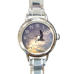 Fly Seagull Round Italian Charm Watches