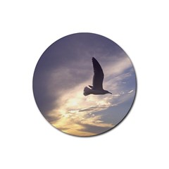 Fly Seagull Rubber Coaster (Round)