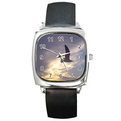 Fly Seagull Square Metal Watches