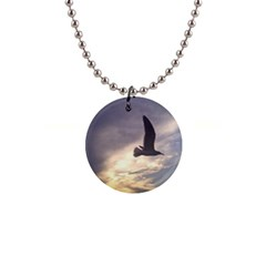 Fly Seagull Button Necklaces