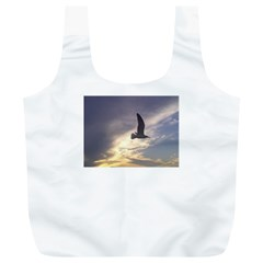 Fly Seagull Full Print Recycle Bags (L)