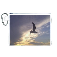 Fly Seagull Canvas Cosmetic Bag (XL)