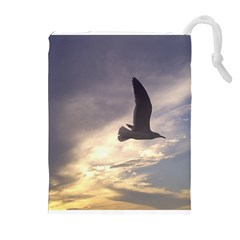Fly Seagull Drawstring Pouches (Extra Large)