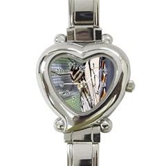 Butterfly 1 Heart Italian Charm Watch