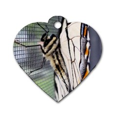 Butterfly 1 Dog Tag Heart (Two Sides)