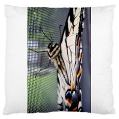 Butterfly 1 Large Flano Cushion Cases (one Side)