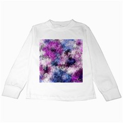 Shabby Floral 2 Kids Long Sleeve T Shirts