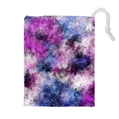 Shabby Floral 2 Drawstring Pouches (extra Large)