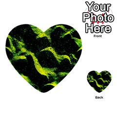 Green Northern Lights Multi Purpose Cards (heart)