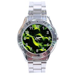 Green Northern Lights Stainless Steel Men s Watch