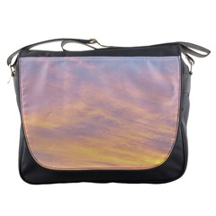 Yellow Blue Pastel Sky Messenger Bags