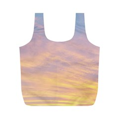 Yellow Blue Pastel Sky Full Print Recycle Bags (M)