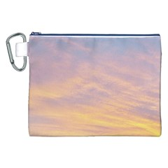 Yellow Blue Pastel Sky Canvas Cosmetic Bag (XXL)
