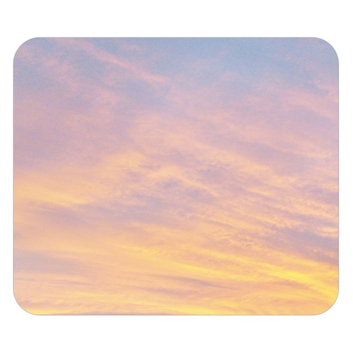 Yellow Blue Pastel Sky Double Sided Flano Blanket (Small)